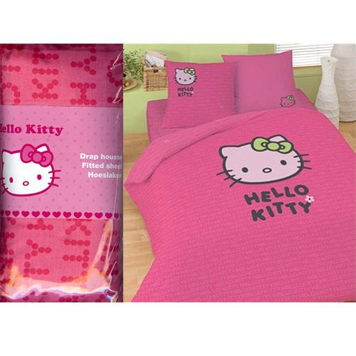 Drap housse hello kitty sweet pink 2 places achat - Drap housse 70x140 hello kitty ...