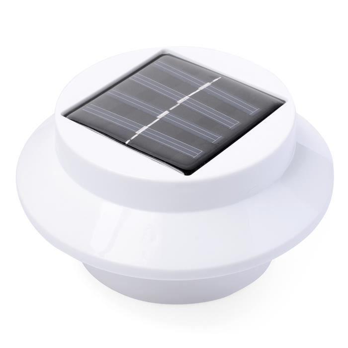 4 x blanc lampe solaire 3 led pour jardin achat vente for Lampe solaire pour portail