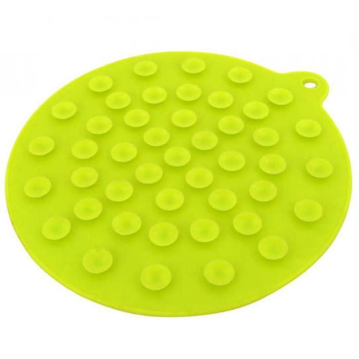 dessous de plat ventouse silicone suit vos plats vert achat vente dessous de plat cdiscount. Black Bedroom Furniture Sets. Home Design Ideas