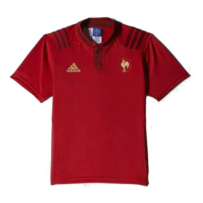 Maillot rugby exterieur france adidas junior rouge for Maillot exterieur equipe de france