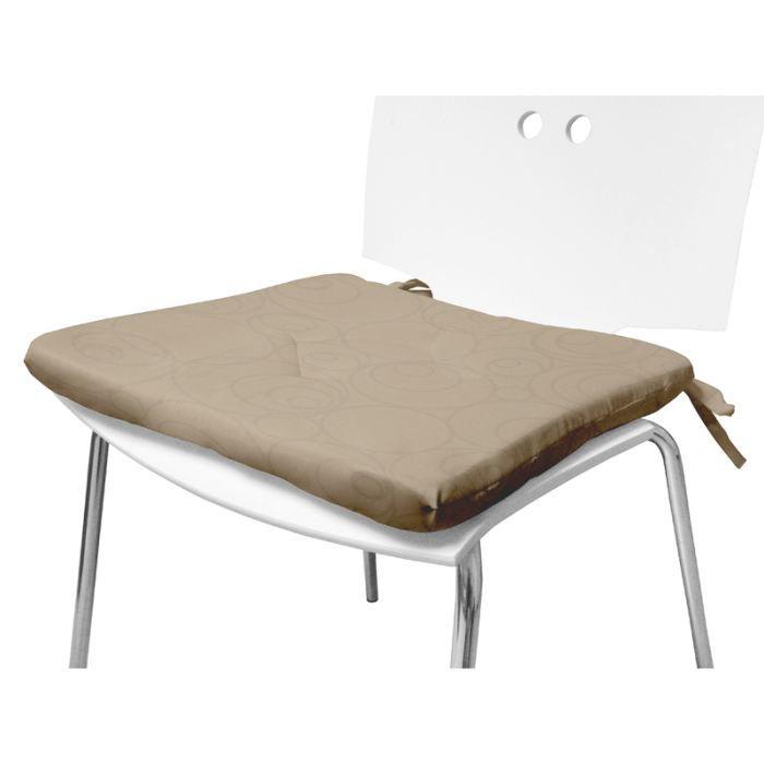 dessus de chaise espace taupe 40x40 cm achat vente coussin de chaise cdiscount. Black Bedroom Furniture Sets. Home Design Ideas