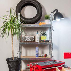 etagere murale metal achat vente etagere murale metal pas cher cdiscount. Black Bedroom Furniture Sets. Home Design Ideas