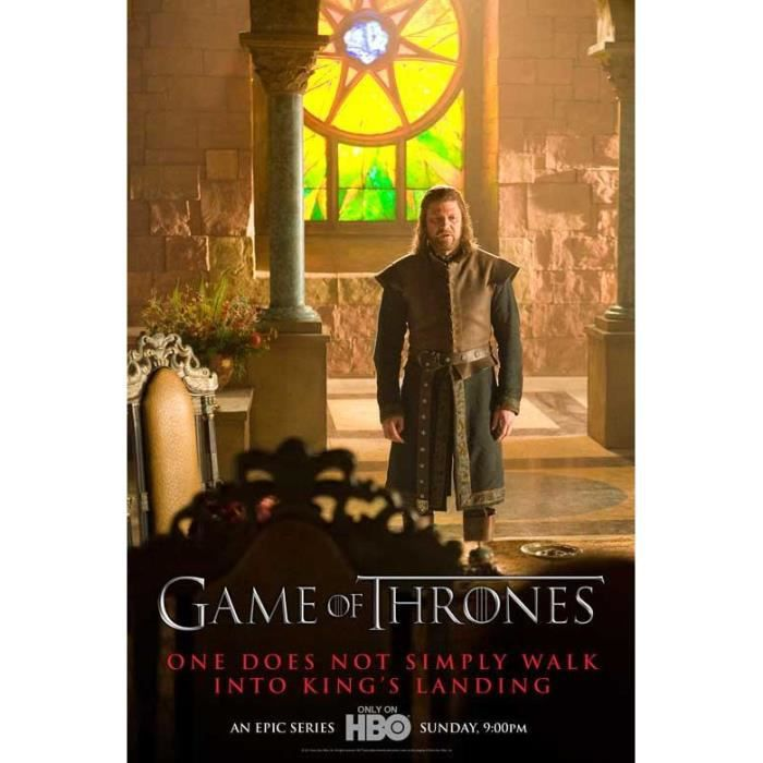 Poster de la s rie tv game of thrones 28 x 43 cm achat for Decoration murale game of thrones