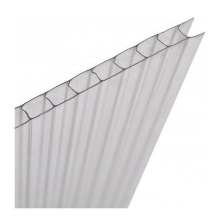 Plaque polycarbonate alv olaire 14 pi ces total 10 25 m - Plaque polycarbonate pour serre jardin ...