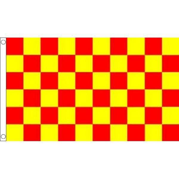 Drapeau damier rouge et jaune 150x90cm dami achat vente drapeau d - Helicoptere jaune et rouge ...