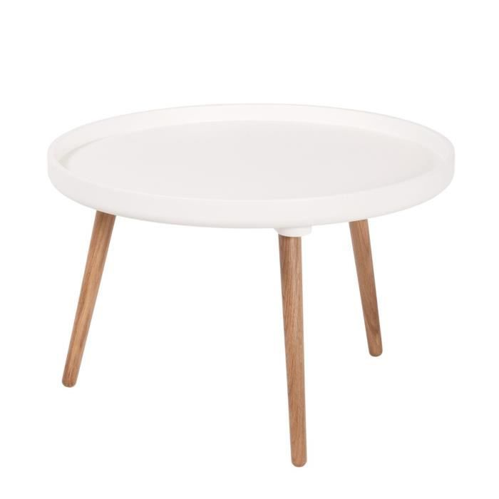 Table basse ronde kompass 55 basse couleur blanc achat - Table basse ronde laque blanc ...