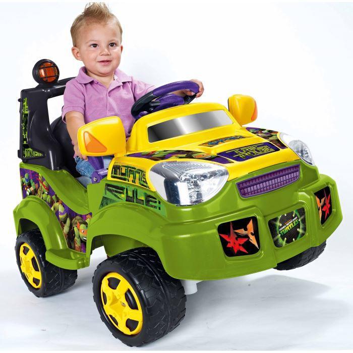 tortues ninja voiture electrique tout terrain achat vente voiture enfant cdiscount. Black Bedroom Furniture Sets. Home Design Ideas
