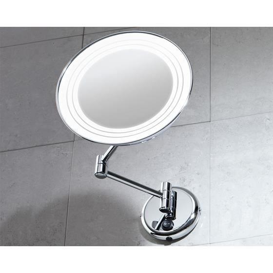 Miroir mural orientable grossissant avec eclair achat for Miroir orientable