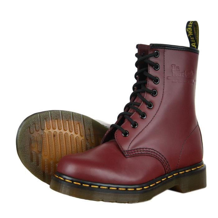dr martens 1460 bottes mixte boots rouge cerise cerise achat vente bottine cdiscount. Black Bedroom Furniture Sets. Home Design Ideas