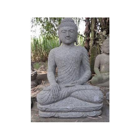 Statue Jardin Zen Bouddha Assis En Pierre Volca Achat