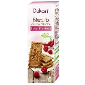 Biscuits son d'avoine framboise 18 biscuits