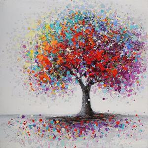 Tableau arbre achat vente tableau arbre pas cher cdiscount - Tableau colore pas cher ...