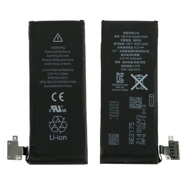 pour apple iphone 4s batterie 1430 mah compat achat batterie t l phone pas cher avis et. Black Bedroom Furniture Sets. Home Design Ideas