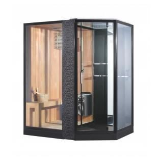 sauna combin douche design droit achat vente kit sauna sauna combin douche design. Black Bedroom Furniture Sets. Home Design Ideas