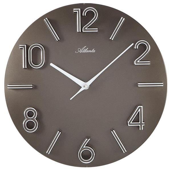 pendule horloge taupe 30 cm achat vente horloge plastique cdiscount. Black Bedroom Furniture Sets. Home Design Ideas