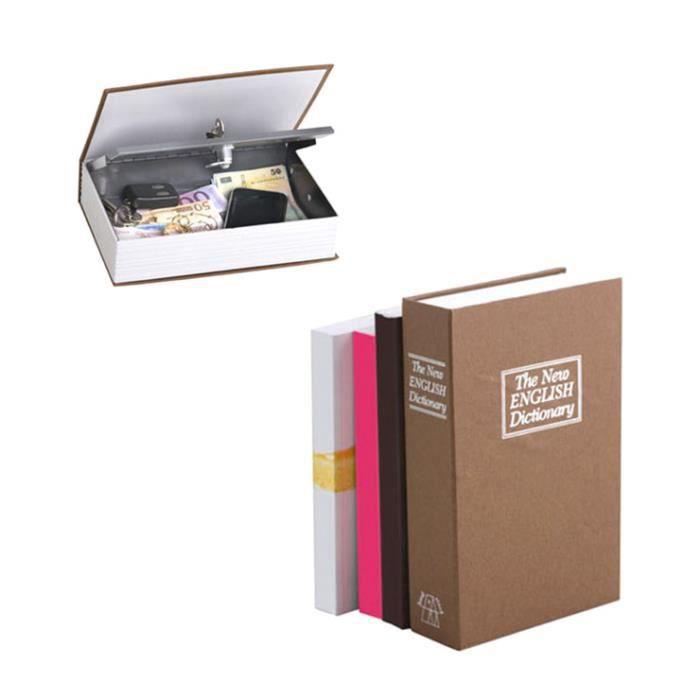 coffre fort imitation dictionnaire anglais achat vente boite de rangement acier plastique. Black Bedroom Furniture Sets. Home Design Ideas