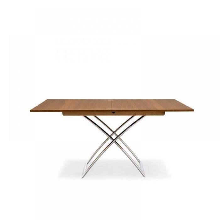 Table relevable extensible magic j bois noyer pi achat vente table basse - Table relevable bois ...