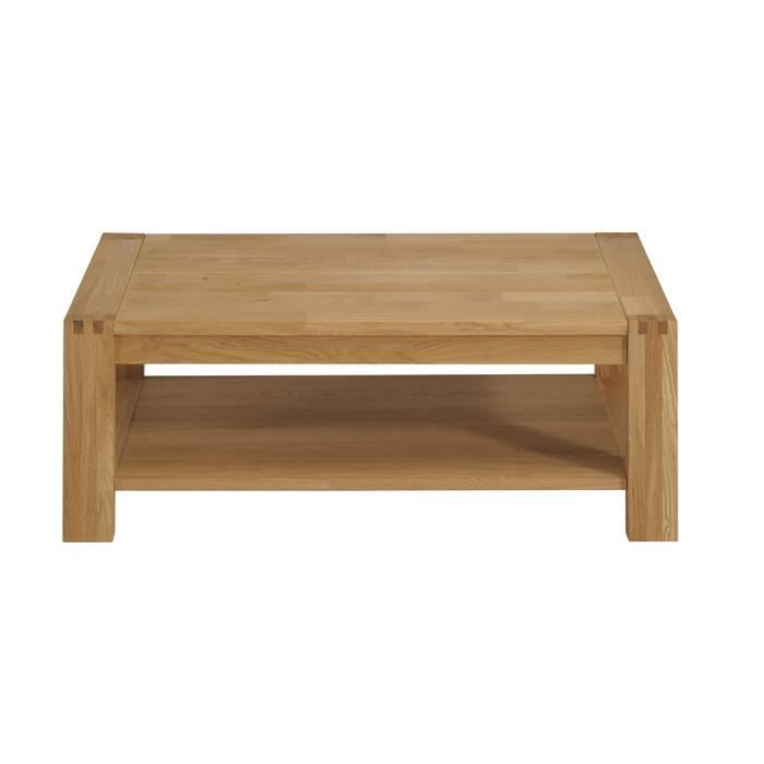 Table basse design ch ne clair oslo achat vente table for Table basse chene clair