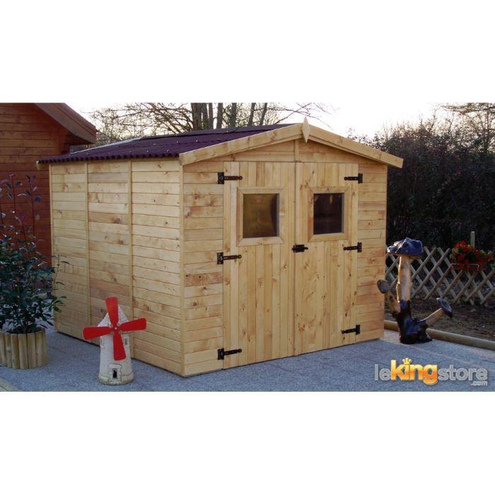 Abri de jardin en bois m avec plancher ed achat vente abri jardin chalet abri de for Abri de jardin en bois destockage