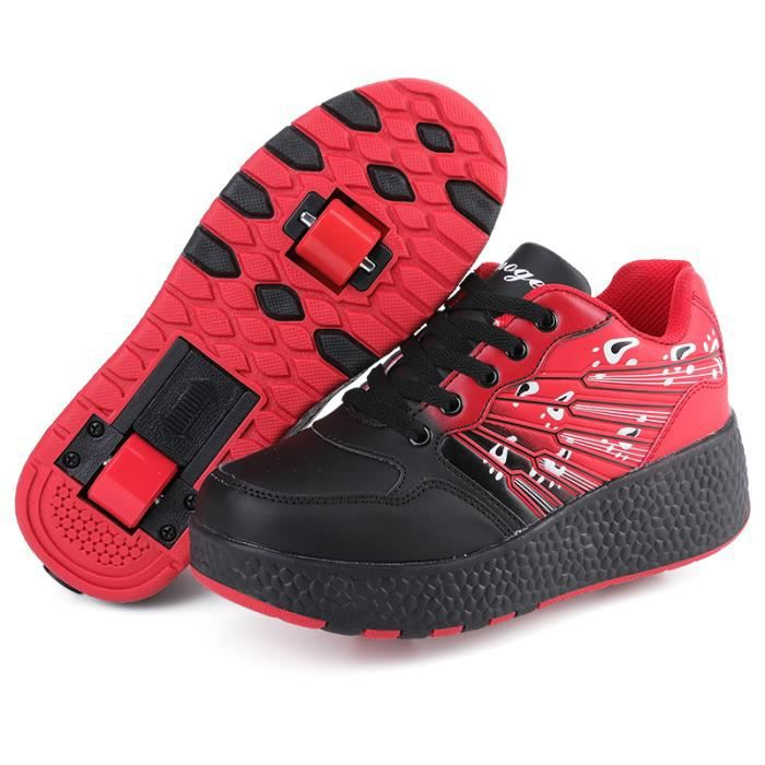 enfants basket chaussures roulettes heelys gar ons filles sneakers avec roues chaussures de. Black Bedroom Furniture Sets. Home Design Ideas