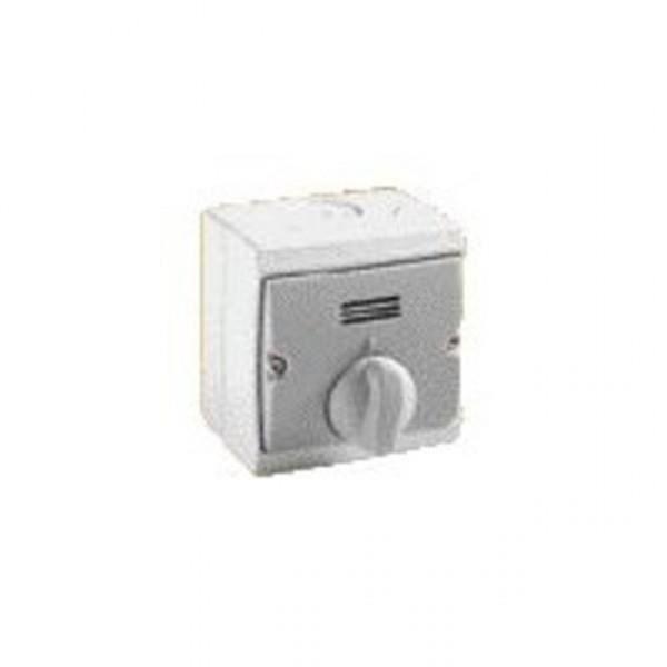 interrupteur temporis blanc saillie 1 achat. Black Bedroom Furniture Sets. Home Design Ideas