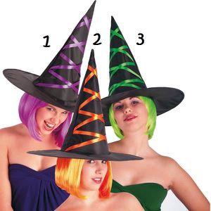CHAPEAU - PERRUQUE Chapeau de sorciere sorcière avec ruban Mod 3 Vert