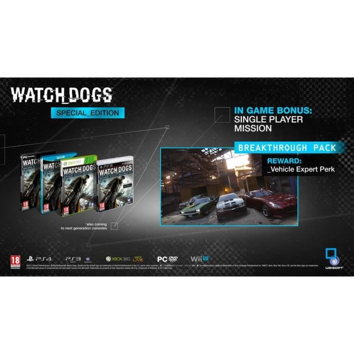 JEUX XBOX 360 Watch Dogs EDITION SPECIALE X360