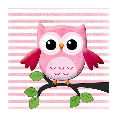 Tableau enfant hiboux rose achat vente tableau - Tableau pour chambre enfant ...