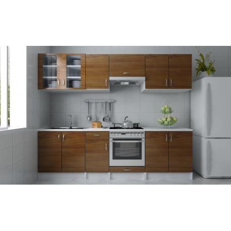 meubles de cuisine quip e neufs couleur brun achat. Black Bedroom Furniture Sets. Home Design Ideas