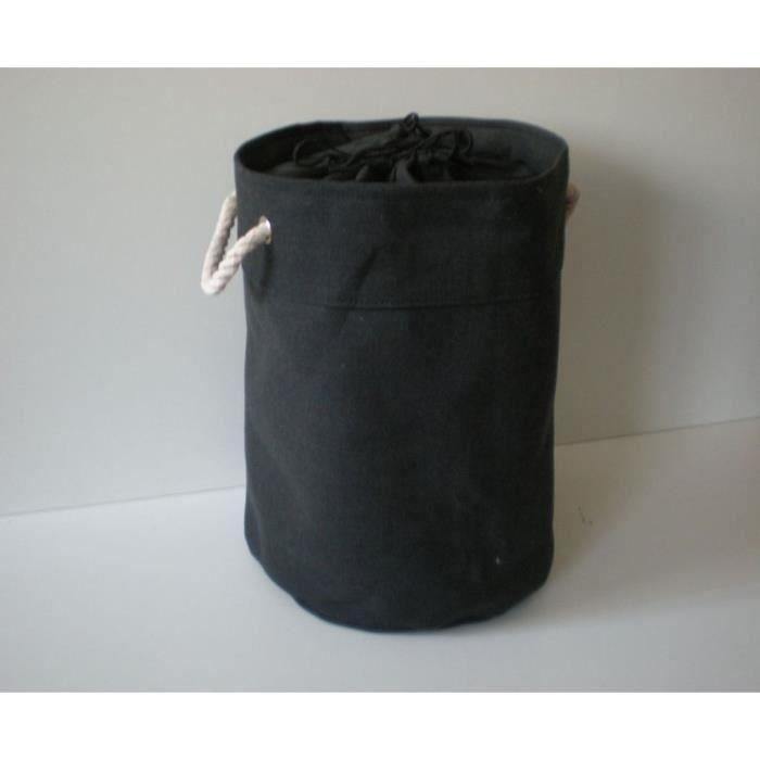 Panier linge corbeille de rangement grise pliab achat - Panier a linge 2 compartiments ...