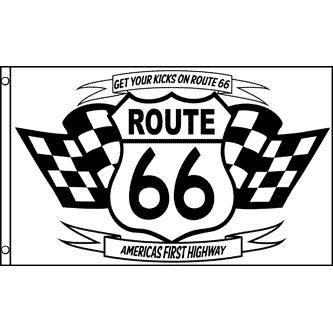 Drapeau route 66 150x90cm am ricain etats u achat for Decoration murale route 66
