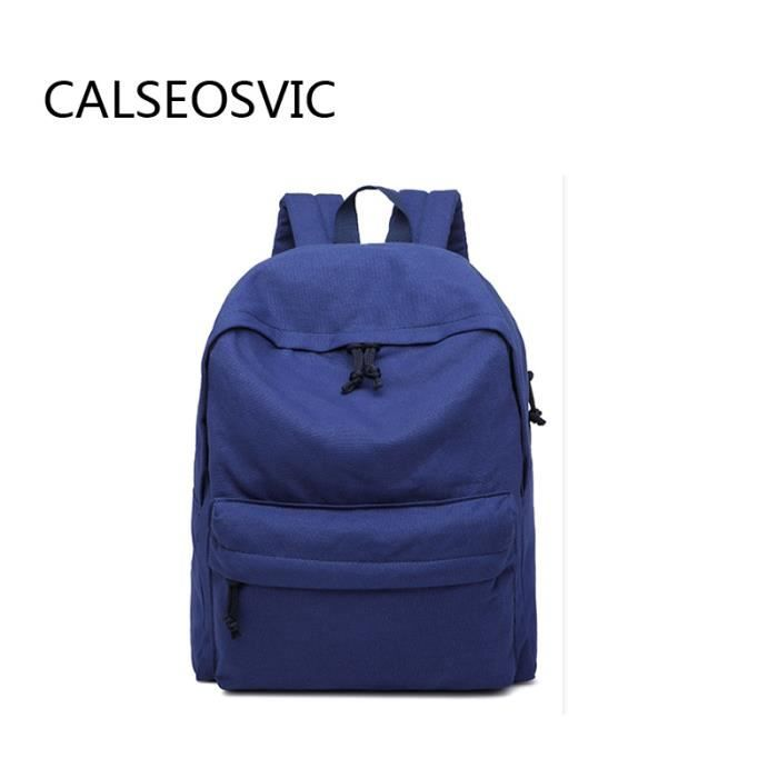 sacs de voyage homme femme sac dos d 39 cole toile bleu achat vente sac dos 2009863134677. Black Bedroom Furniture Sets. Home Design Ideas