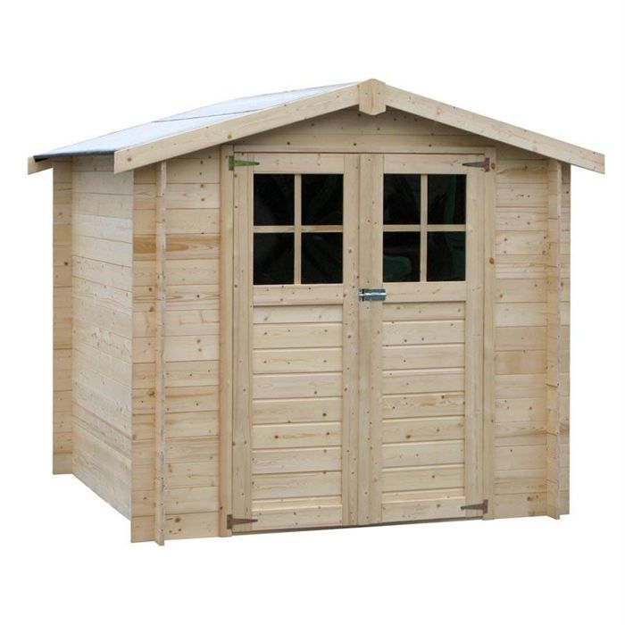 Abri de jardin milovic en bois 19 mm 4 37 m achat for Achat abri de jardin