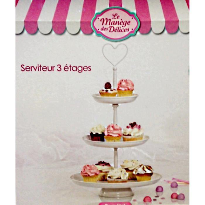 Prensentoir a gateau serviteur 3 etages cupcakes muffin for Serviteur de table 3 etages