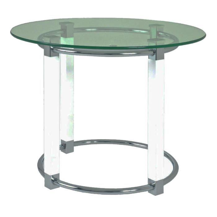 Table d 39 appoint en tube d 39 acier coloris blanc c achat for Table d appoint jardin