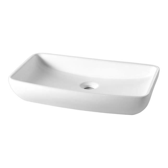 Vasque poser rectangle l g rement vas e achat vente lavabo vasque 111106 vasque - Vasque a poser occasion ...