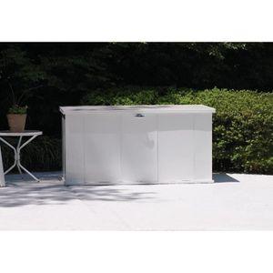 Coffre de rangement en métal blanc 595L