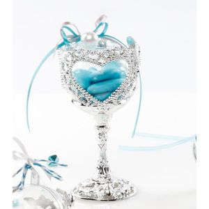 bote drages 10 contenants drages calice coeur mariage - Contenant Drages Mariage Coeur