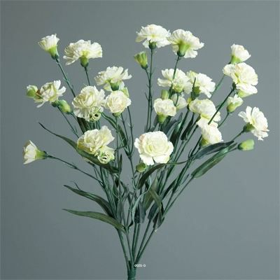 Oeillets artificiels en buisson blanc vert piqu achat for Buisson synthetique