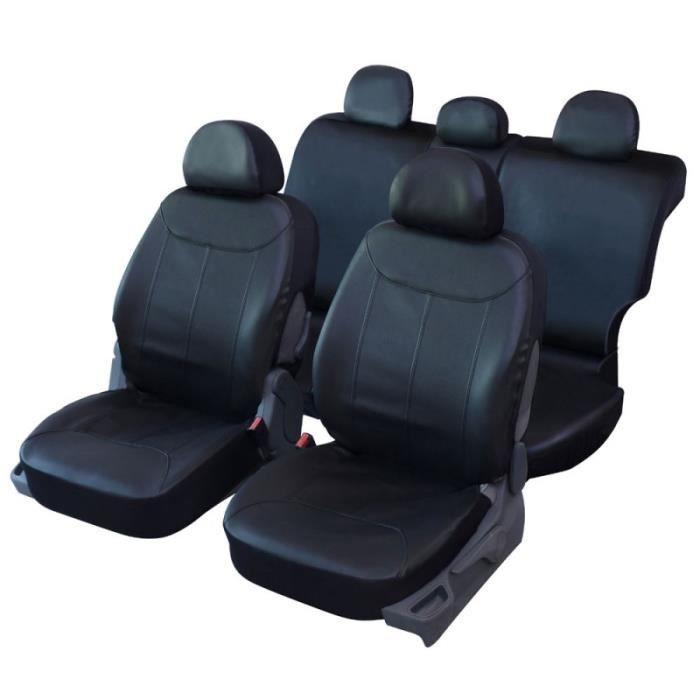 housses de si ge en simili cuir noir pour jeep renegade qd221 achat vente housse de si ge. Black Bedroom Furniture Sets. Home Design Ideas