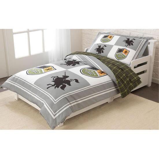 Parure de lit deco chevalier avec couette drap achat for Drap et couette