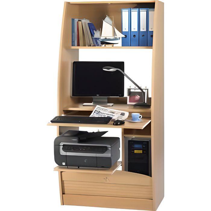 armoire informatique galb e 80 cm d cor h tre achat. Black Bedroom Furniture Sets. Home Design Ideas