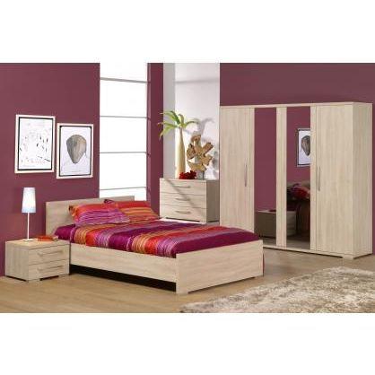 Chambre adulte compl te alicia ii l 140 x l 200 cm achat vente lit comple - Chambre complete adulte discount ...