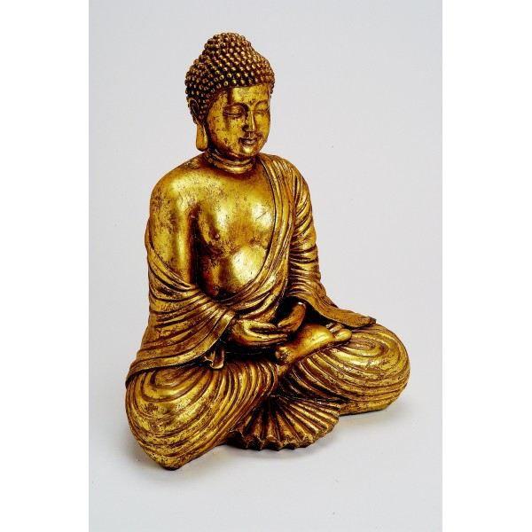 Statue bouddha or achat vente statue statuette - Statue bouddha interieur maison ...