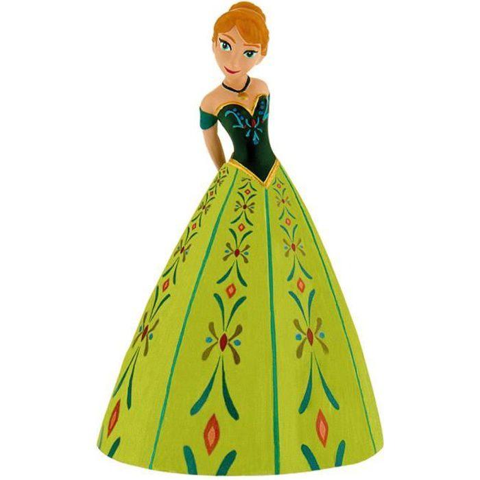 figurine personnage figurine la reine des neiges anna robe verte
