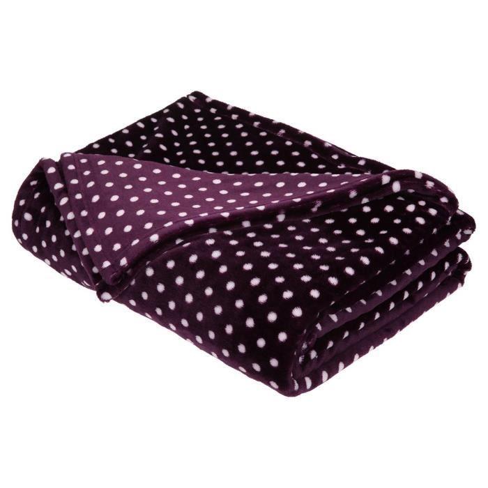 finlandek couverture pois lyyli 220x240cm deep purple. Black Bedroom Furniture Sets. Home Design Ideas