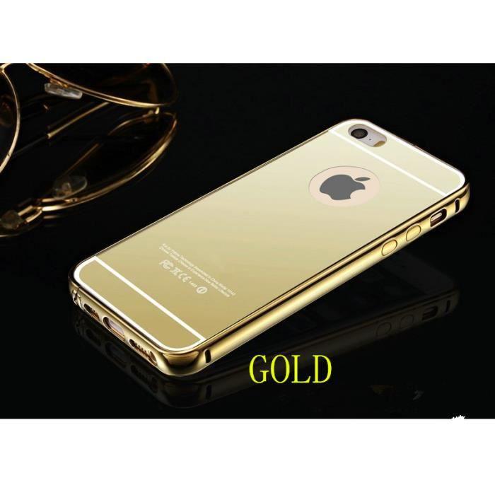 Coque iphone 5 5s aluminium m tal miroir housse bumper for Coque iphone 7 miroir