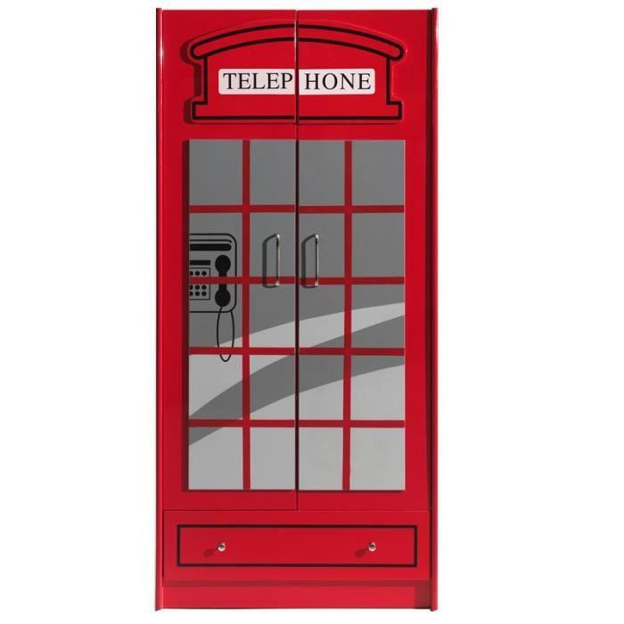 Paris prix armoire 2 portes cabine londres rouge achat vent - Achat armoire pas cher ...