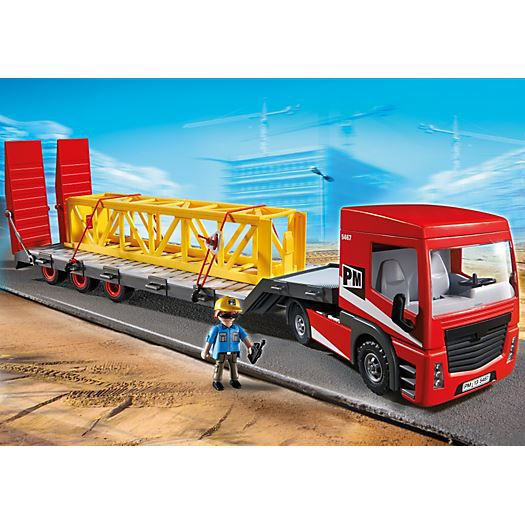 Playmobil 5467 transport exceptionnel achat vente voiture camion cdiscount - Playmobil camion ...