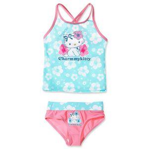 maillot de bain 2 pi ces fille s transparent rose achat vente maillot de bain cdiscount. Black Bedroom Furniture Sets. Home Design Ideas